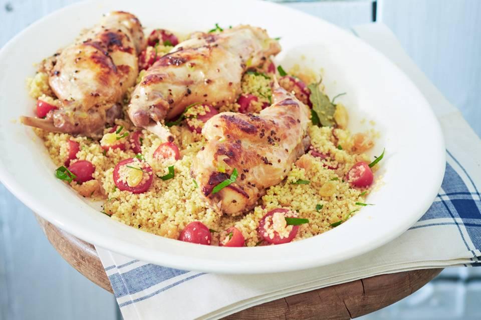 Marinierte Kaninchenkeulen mit Couscous-Salat Rezept