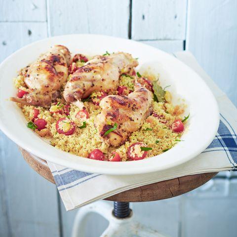 Marinierte Kaninchenkeulen mit Couscous-Salat
