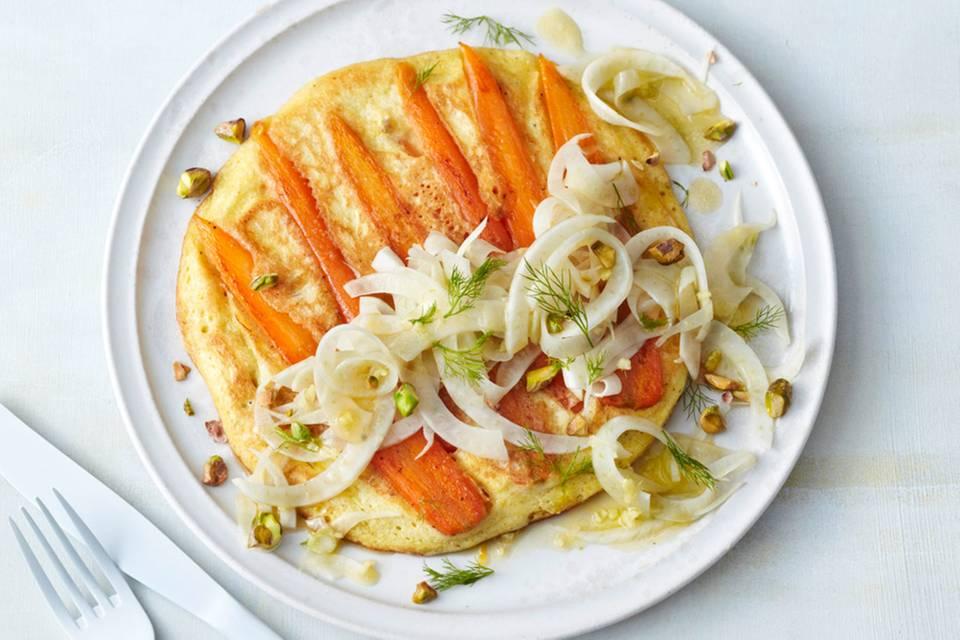 Möhren-Curry-Pfannkuchen Rezept