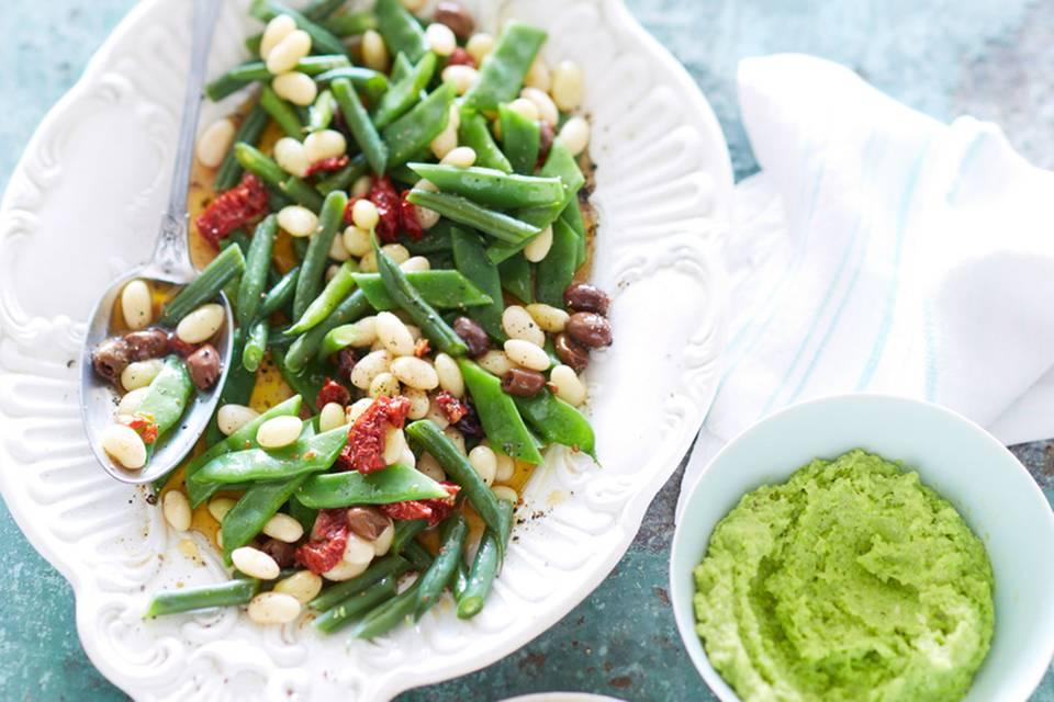 Bohnensalat mit Bohnencreme Rezept