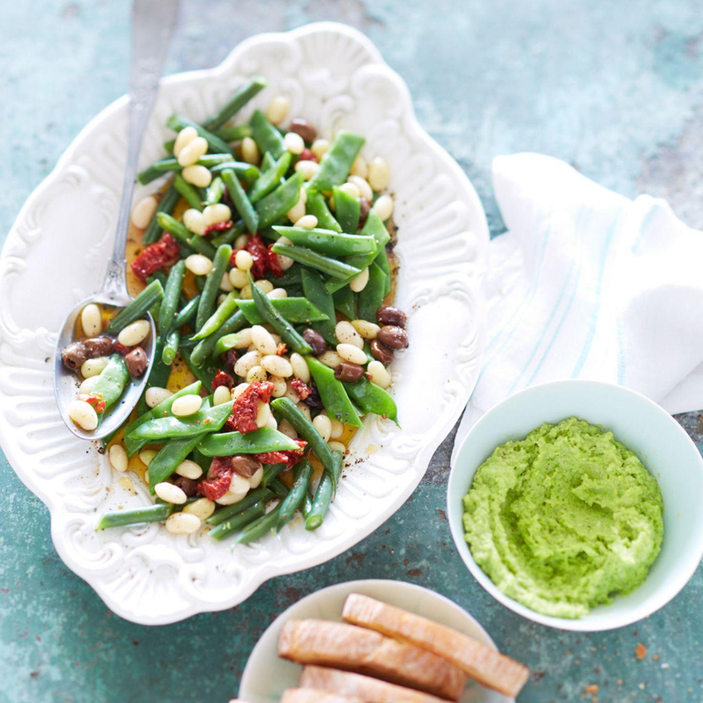Bohnensalat mit Bohnencreme
