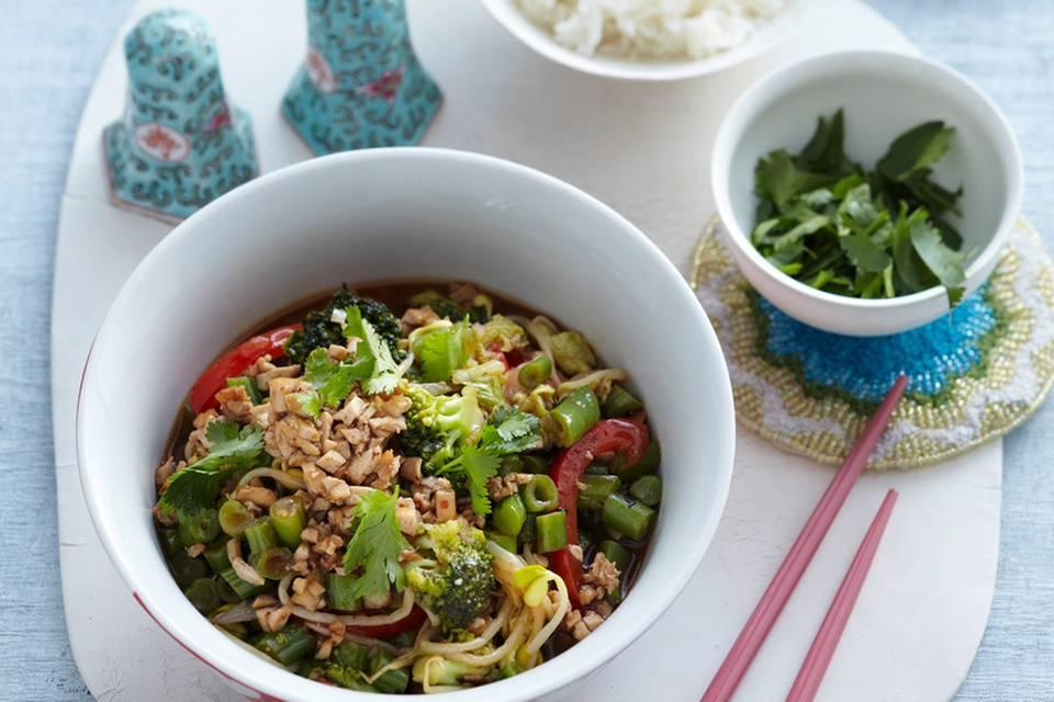 Gemüsepfanne mit Tofu Rezept