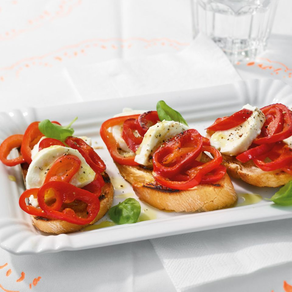 Paprika-Bruschetta