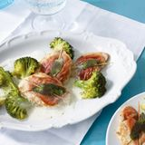 Puten-Saltimbocca mit Broccoli
