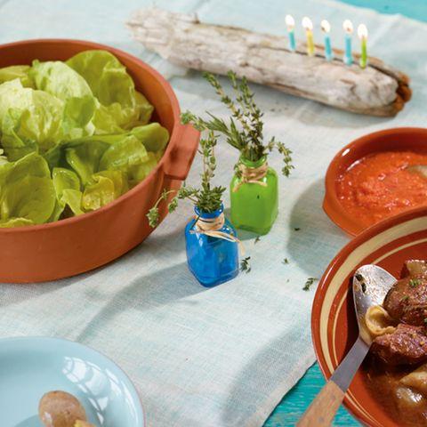 Kopfsalat mit Honig-Zitronen-Dressing