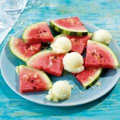 Melone mit Zitronenzucker