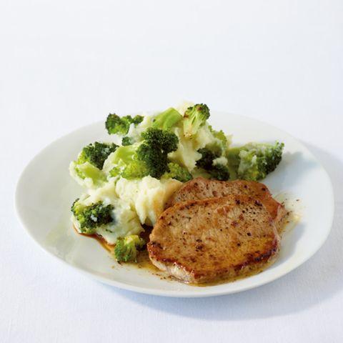 Schnitzel mit Broccoli-Kartoffelpüree