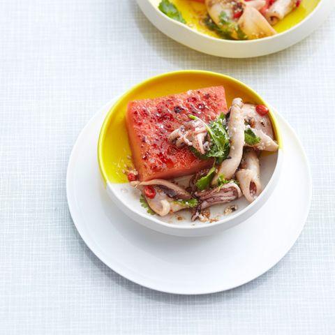 Karamellisierte Melone mit Calamaretti