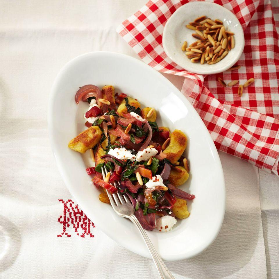 Gnocchi mit Mangold-Gemüse