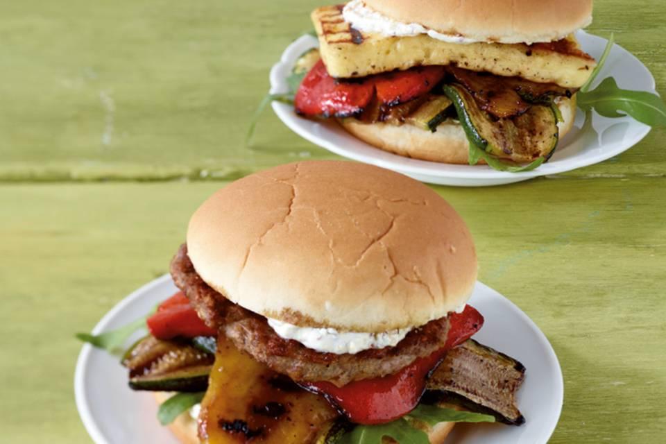 Grillgemüse-Burger Rezept