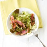 Salat mit Fenchel und Rotbarbe