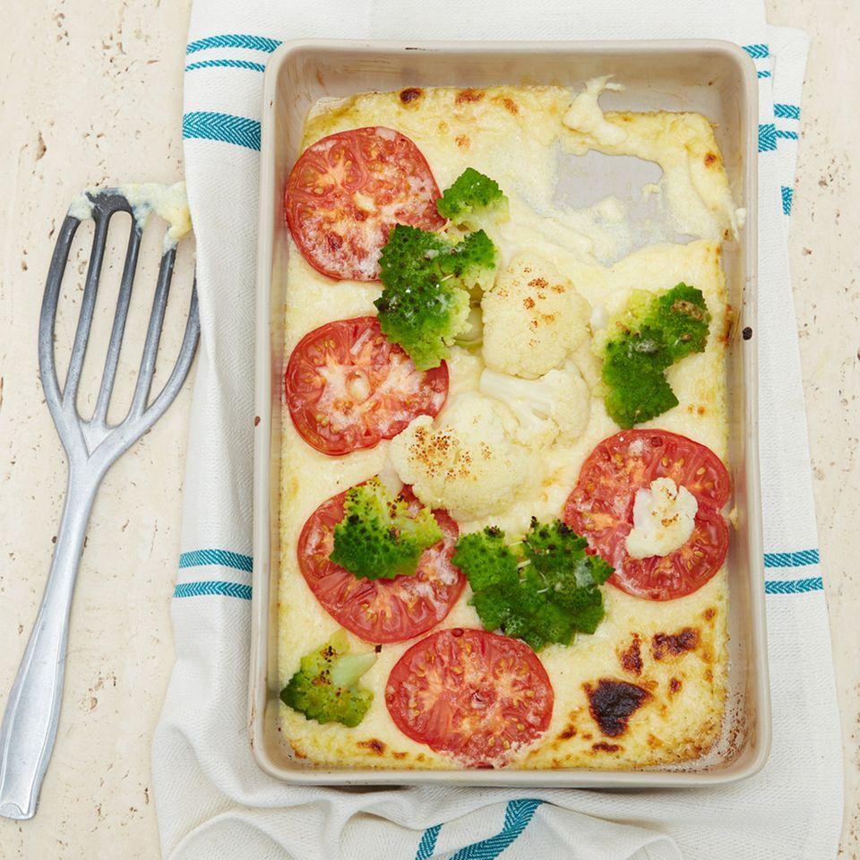 Polenta mit gratiniertem Gemüse
