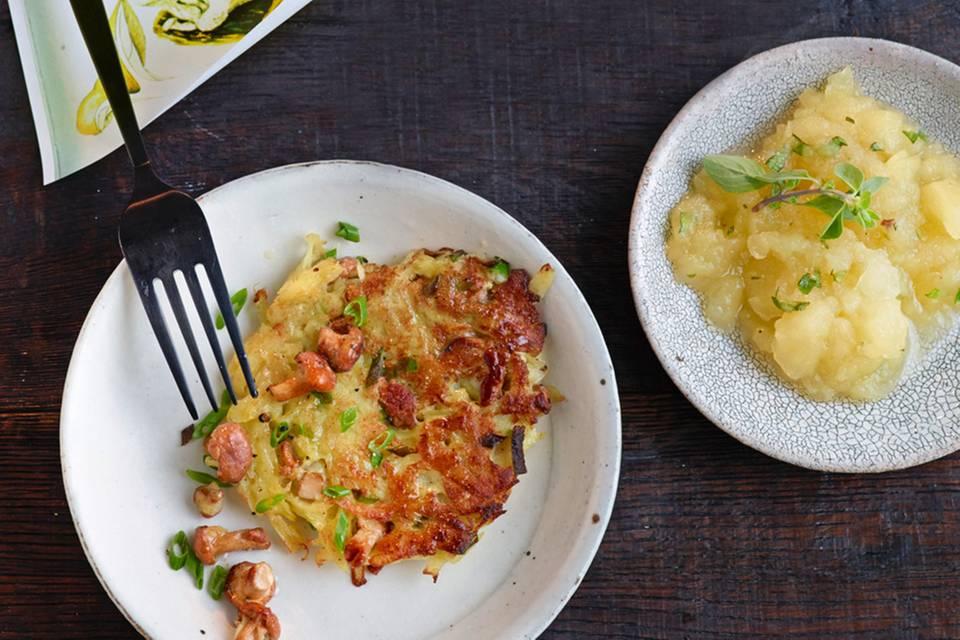 Kartoffel-Pfifferlingspuffer Rezept