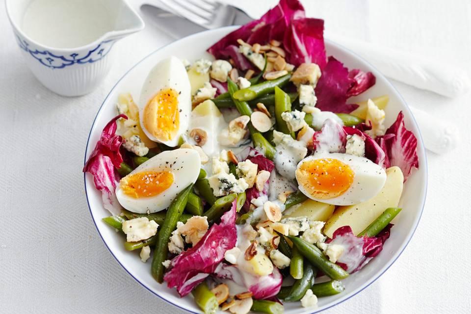 Kartoffelsalat mit Radicchio und Friesisch Blue Rezept