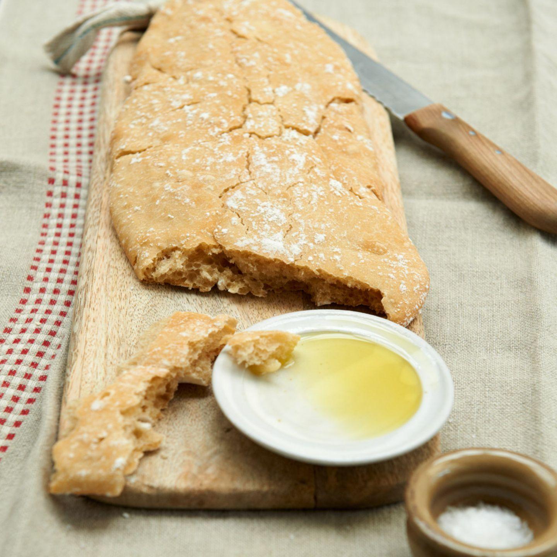 Ciabatta mit Olivenöl