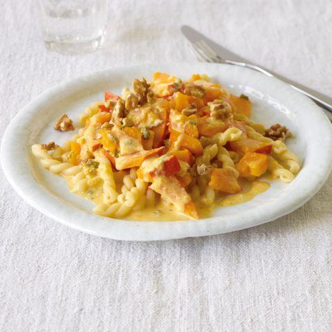 Kürbis-Gorgonzola-Pasta