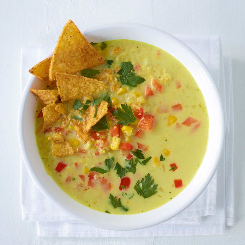 Paprika-Mais-Suppe