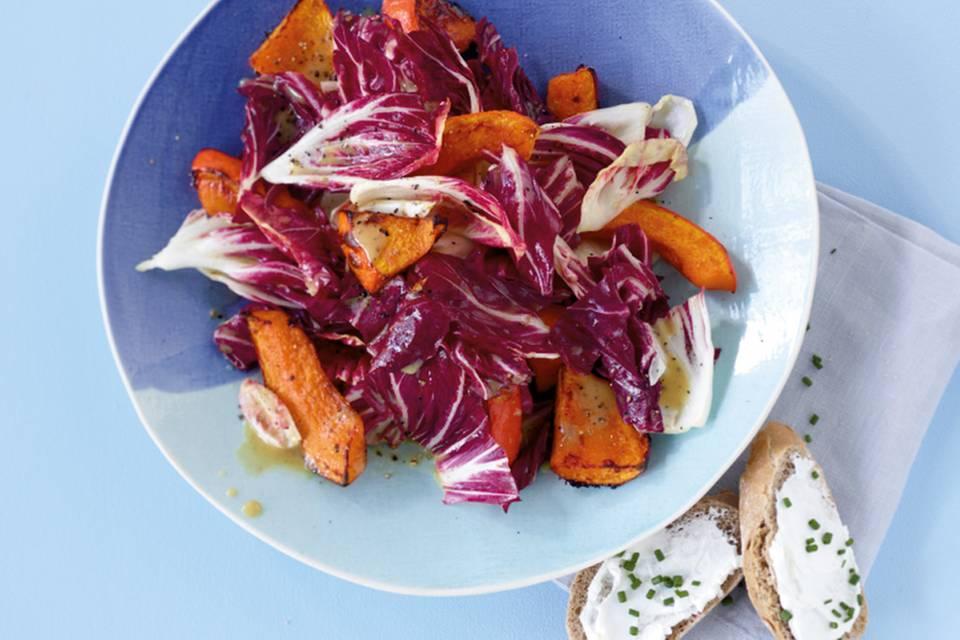 Kürbis-Radicchio-Salat Rezept