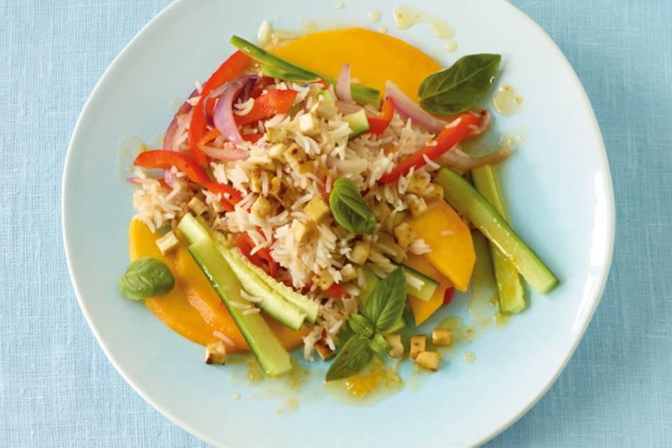 Gemüsereis mit Tofu Rezept