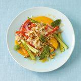 Gemüsereis mit Tofu