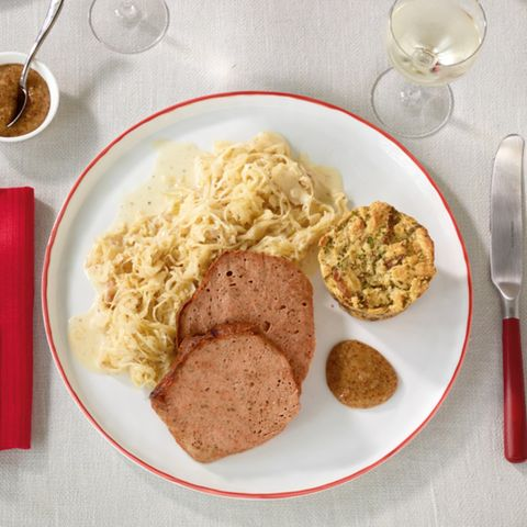 Rahm-Senf-Sauerkraut