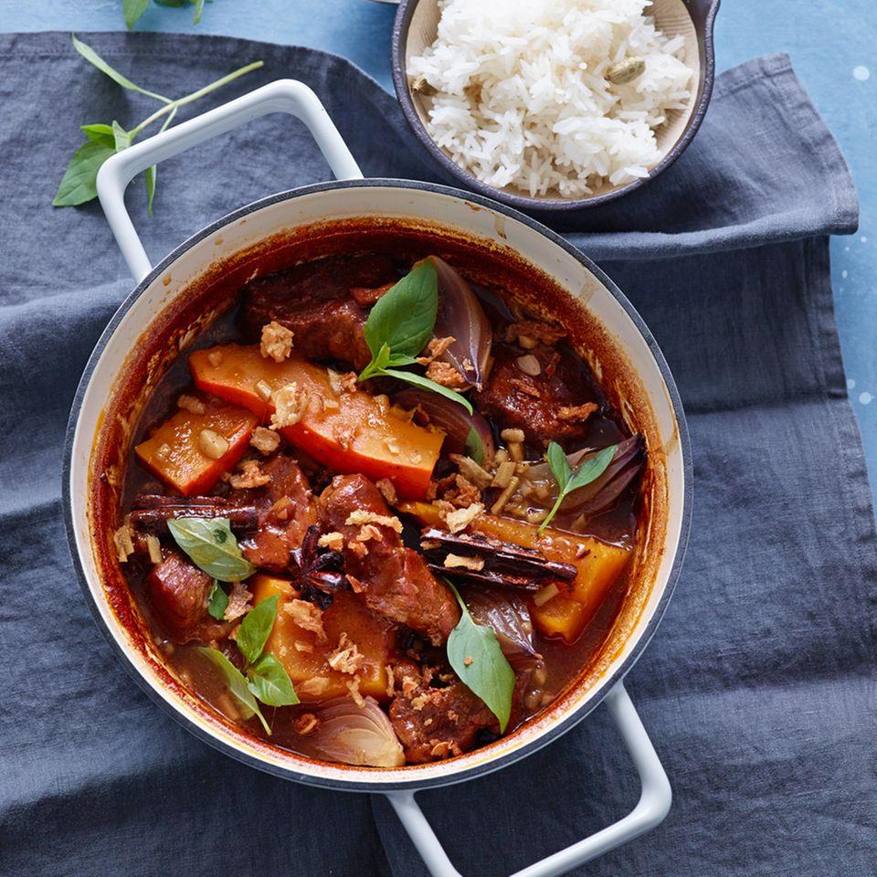 Curry mit Schweinenacken und Kürbis