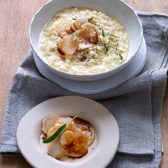 Sellerie-Risotto mit Rettich und Sojasauce