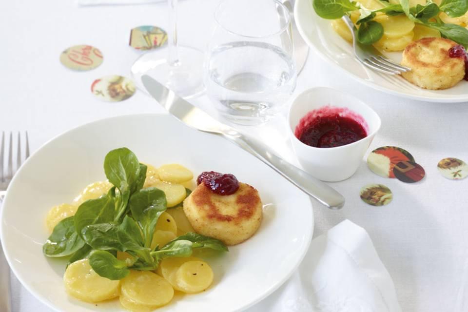 Kartoffel-Feldsalat-Salat Rezept