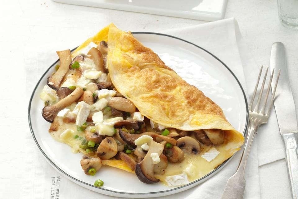 Camembert-Pilz-Omelette Rezept