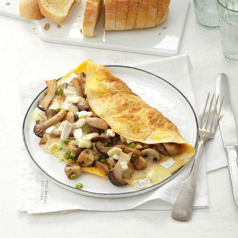 Camembert-Pilz-Omelette