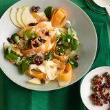 Kürbis-Pastinaken-Salat mit Tahine-Dressing und Cranberry-Krokant