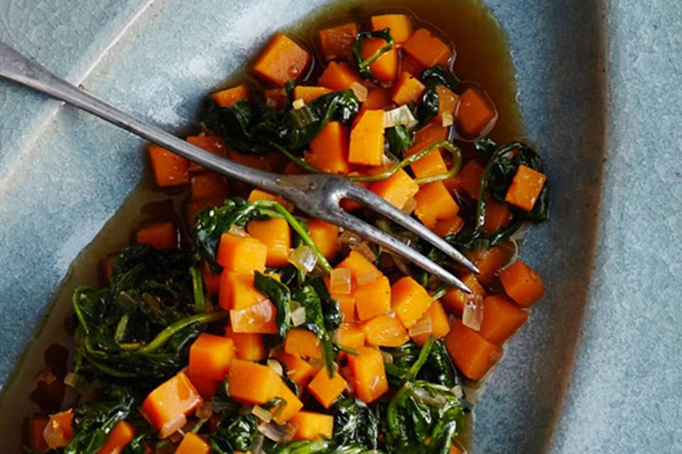 Kürbis-Spinat-Gemüse Rezept