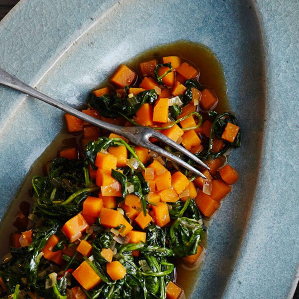 Kürbis-Spinat-Gemüse
