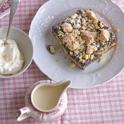 Mohnkuchen mit Äpfeln