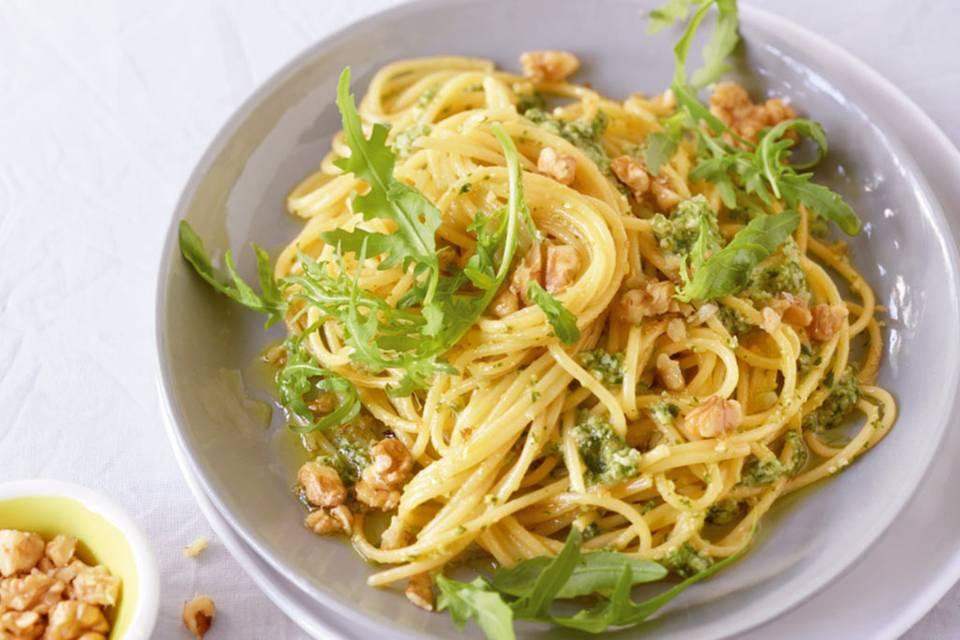 Spaghetti mit Walnuss-Pesto Rezept
