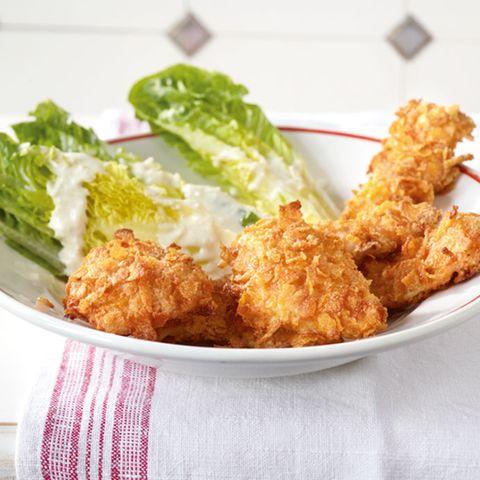 Knusperhähnchen mit Salat