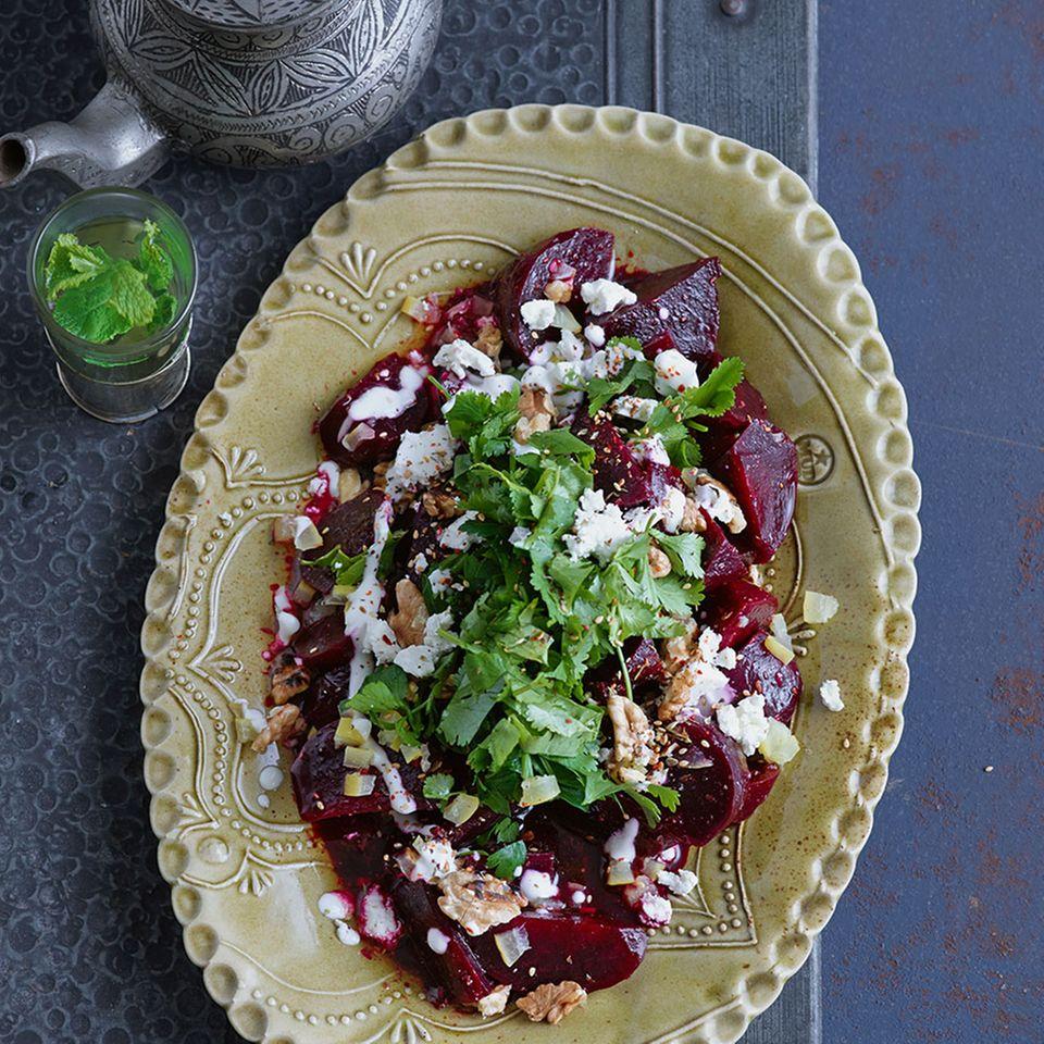 Marinierter Rote-Bete-Salat mit Salzzitronen und Zatar