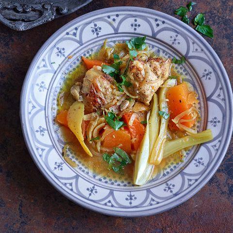 Safran-Zitronen-Huhn