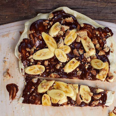 Schoko-Bananen-Flammkuchen