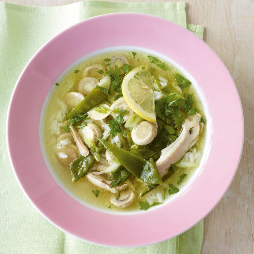 Zitronen-Hähnchen-Suppe