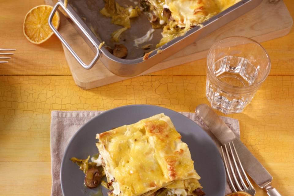 Wirsing-Pilz-Lasagne Rezept