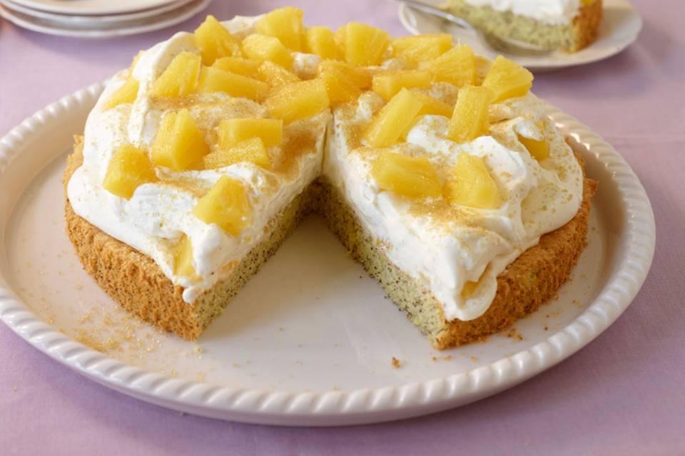 Mohn-Ananas-Torte Rezept