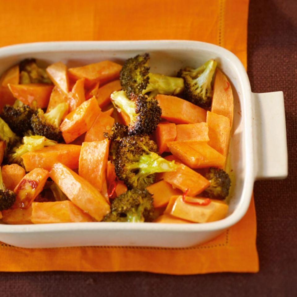 Broccoli-Süßkartoffel-Gemüse