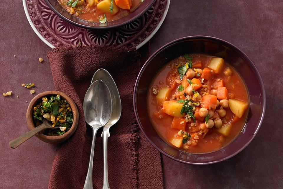 Kartoffel-Möhren-Kichererbsen-Eintopf Rezept