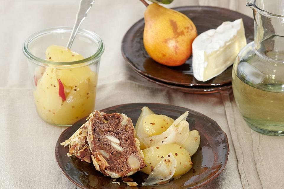 Birnenkompott mit Senf und Zwiebeln Rezept