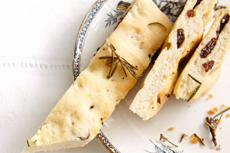 Focaccia mit Sultaninen Rezept