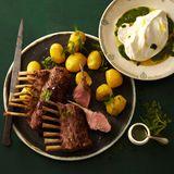 Lammkoteletts mit Kräuterquark