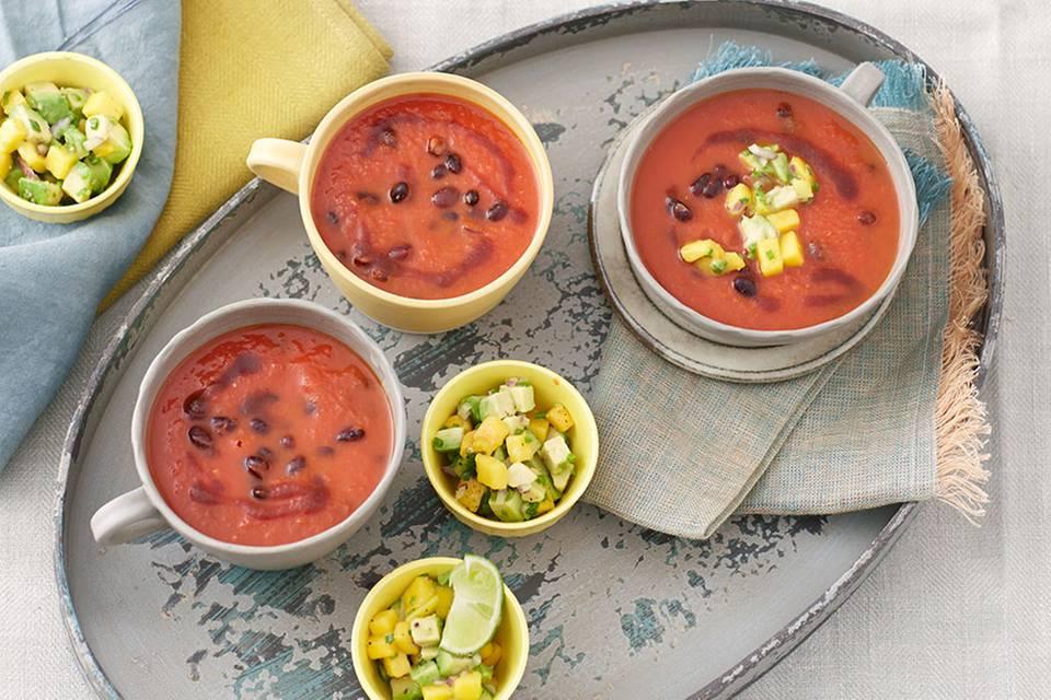 Leicht Scharfe Bohnen-Tomaten-Suppe Rezept