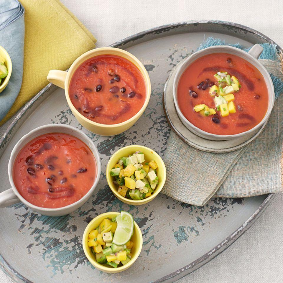 Leicht Scharfe Bohnen-Tomaten-Suppe