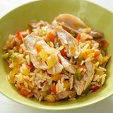 Bunter Reis mit Hähnchen
